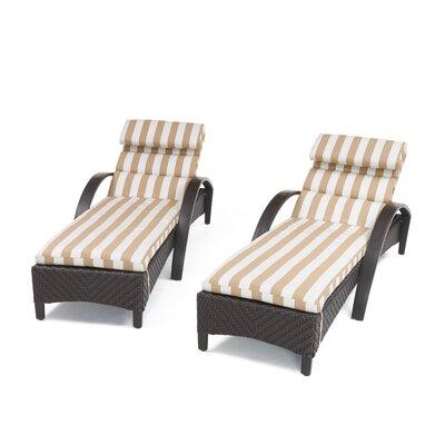 Brayden Studio Chaise Lounge Waterproof Cushion Reclining Loungers