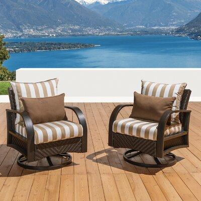 Brayden Studio Motion Patio Cushion Rattan Lounge Chairs