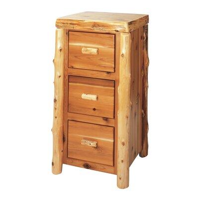 Fireside Lodge Cedar Log Drawer File Cabinet