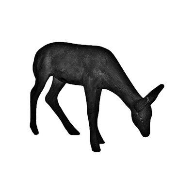 ResinStone Feeding Deer Statue Color: Black 1400-33B