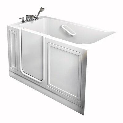 American Standard Combo Massage Air Whirlpool Bathtub Drain Location Right White