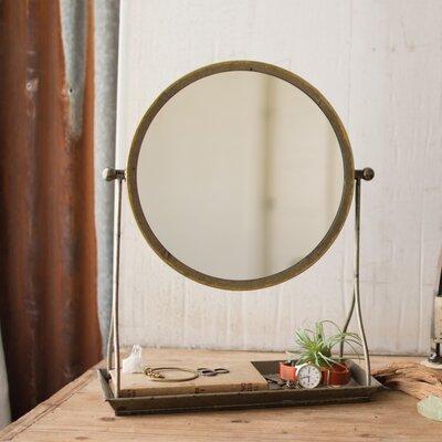 Gracie Oaks Pacome Metal Frame Makeup Shaving Mirror