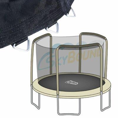 Round Trampoline Net Using 4 Poles Color: Black C-N14162-M1472147G