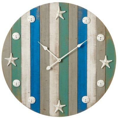 Rosecliff Heights Starfish Sand Dollar Wall Clock Glenhaven Wall Clocks