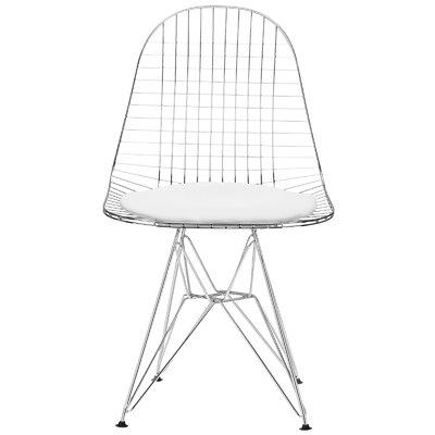 Edgemod Upholstered Dining Chair Upholstery White