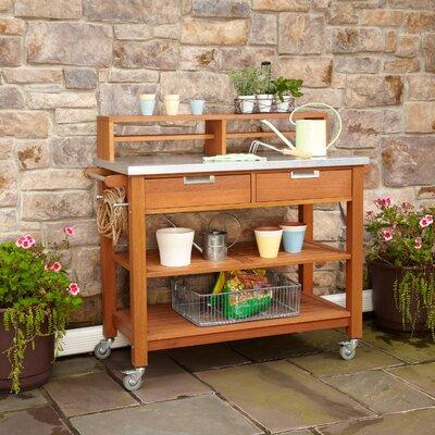 Home Style Wood Potting Bench Hai Greenhouse Potting