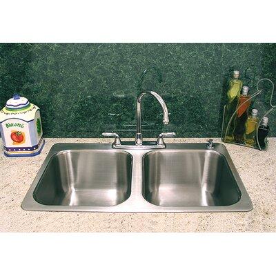 A Line Advance Tabco Double Bowl Kitchen Sink