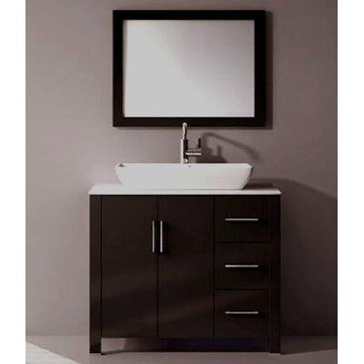 Latitude Run Free Standing Bathroom Vanity Set Mirror Single Vanities