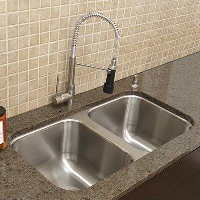 A Line Advance Tabco Double Bowl Undermount Kitchen Sink