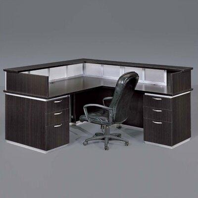 Right Reception Desk Mocha Laminate