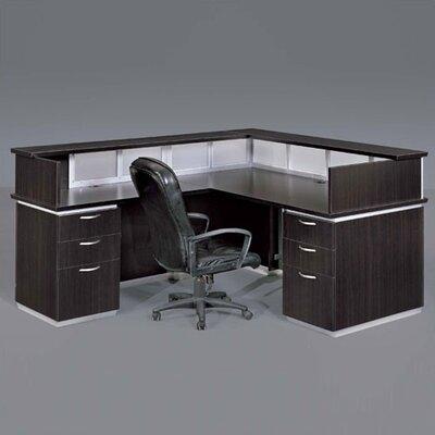 Left Reception Desk Mocha Laminate