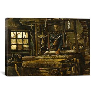 "'A Weaver's Cottage' by Vincent van Gogh Painting Print on Canvas Size: 40"" H x 60"" W x 1.5"" D 14318-1PC6-60x40"