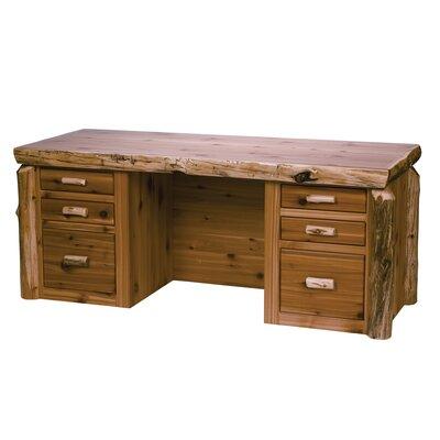 Cedar Log Drawers Executive Desk Standard