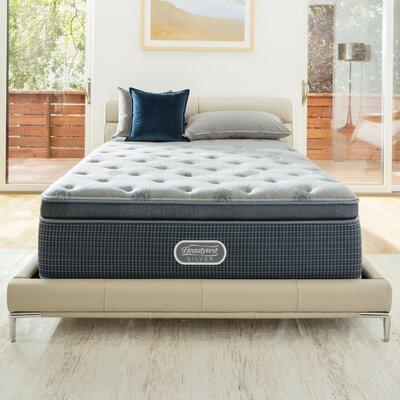Simmons Beautyrest Plush Pillow Top Mattress Box Spring Silver Mattresses