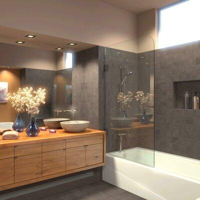 Ark Showers Hinged Frameless Tub Door Clearshield