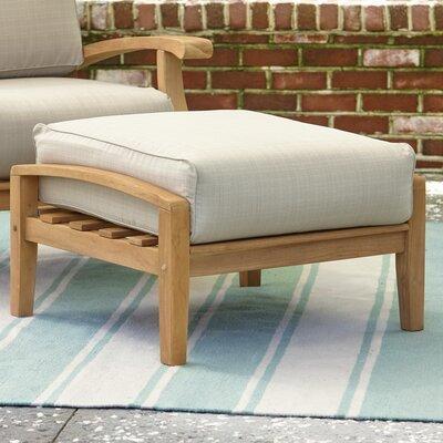 Birch Lane Ottoman Cushion Teak Stool