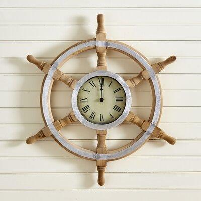Helm Wall Clock | 50 Nautical Inspired Ideas For Home Decor | Inexpensive Nautical Decor | DIY Home Decor | theMRSingLink