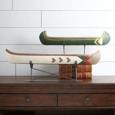 Millwood Pines Figurine Canoe Furniture
