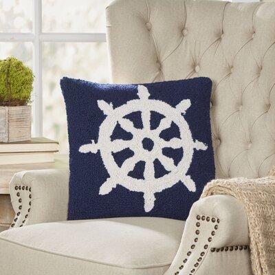 Nautical Hook Helm Pillow | 50 Nautical Inspired Ideas For Home Decor | Inexpensive Nautical Decor | DIY Home Decor | theMRSingLink