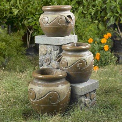 Jeco Venice Multi Pot Fountain Fiberglass Fountains