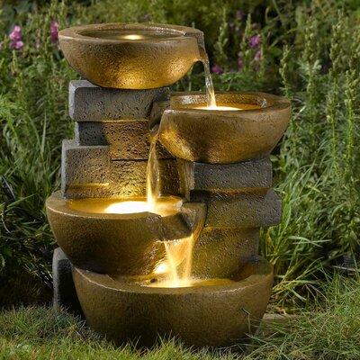 Jeco Pots Fountain Led Light Fiberglass Fountains