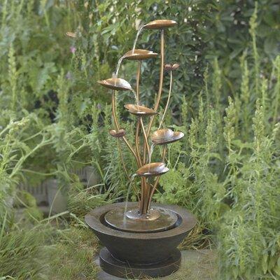 Jeco Acqua Di Loto Lotus Tabletop Fountain Fiberglass Fountains