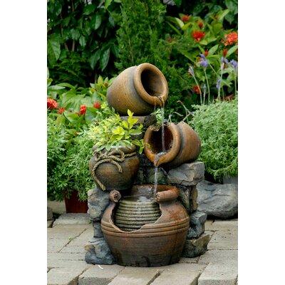Jeco Multi Pots Fountain Fiberglass Fountains
