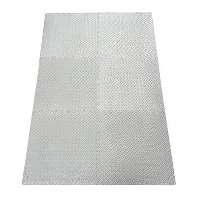 Multipurpose Anti-Fatigue EVA Foam Puzzle Floor Mat Color: Gray EFM-24-Grey