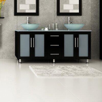 Ebern Designs Double Vessel Modern Bathroom Vanity Set