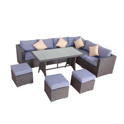 Brayden Studio Dining Set Cushions Rattan Dining Sets