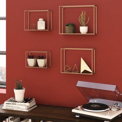 Brayden Studio Wall Shelf Set Metal Shelves