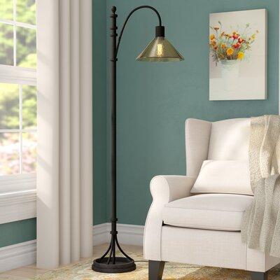 Alcott Hill Iron Task Floor Lamp Industrial Floor Lamps