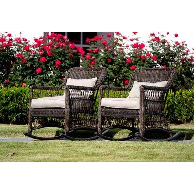 Rosecliff Heights Outdoor Wicker Rocking Chair Chretien Rockers Gliders