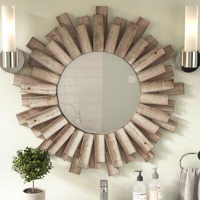Union Rustic Wood Mirror Burst Mirrors