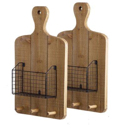 Gracie Oaks Wall Shelf Basket Shelves