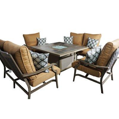 Red Barrel Studio Sunbrella Conversation Set Cushions Deep Conversation Sets