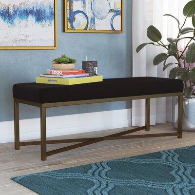 Wrought Studio Velvet Bench Rectangle Benches