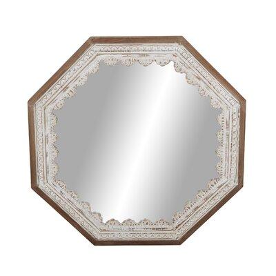 Ophelia Octagonal Wood Mirror Rustic Mirrors