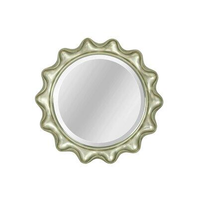 Ebern Designs Round Wall Mirror Scallop Mirrors