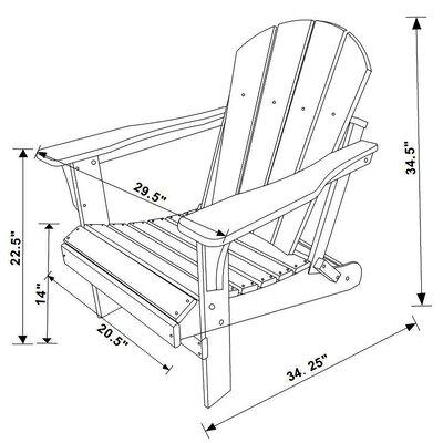 Highland Dunes Folding Adirondack Chair Resin Adirondack Chairs