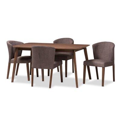 George Oliver Wood Dining Set Mid Dining Tables Sets