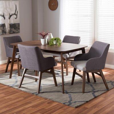 George Oliver Wood Rectangular Dining Set Mid Dining Tables Sets