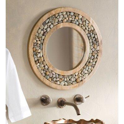 Bloomsbury Market Framed Round Mirror Riverstone Mirrors