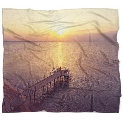 Bridge Boardwalk over the Beach at Sunset Blanket 91FF10A797614DC08F30D32B4EDFED0B