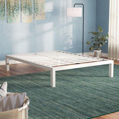 Latitude Run Metal Platform Bed Frame White Beds Accessories