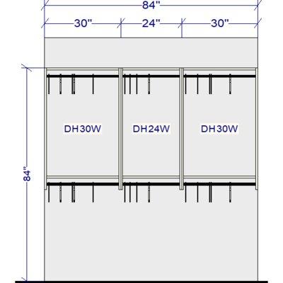 Rebrilliant Closet System Organizer Closet Storage