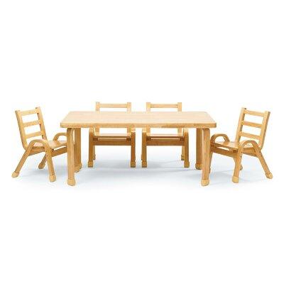 Angeles Preschool Table Chair Set Rectangle Tables Sets