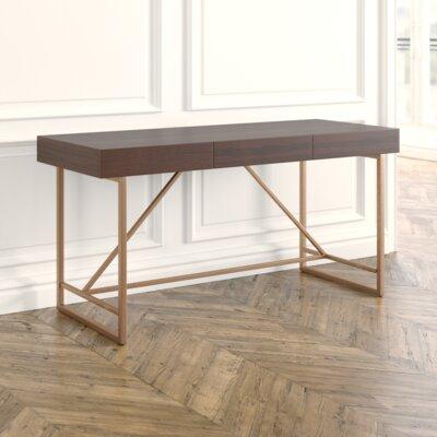 Everly Quinn Rectangular Writing Desk Contemporary Desks