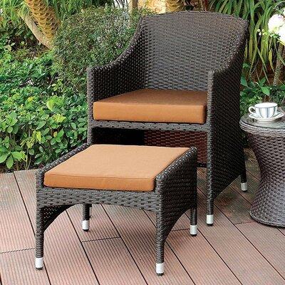 Gracie Oaks Chair Ottoman Patio Lounge Chairs