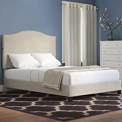 Charlton Home Back Queen Upholstered Panel Bed Camel Beds
